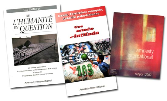 quelques publications d' Amnesty International